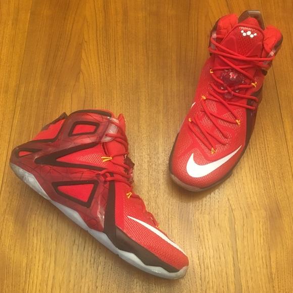 sale retailer f34a3 a1557 WORN 1X Nike LeBron 12 Elite Team Size 12.5